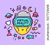 cartoon kawaii character play... | Shutterstock .eps vector #537715648