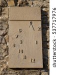 Ancient Stone Sundial Clock On...