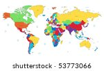 detailed vector world map of... | Shutterstock .eps vector #53773066