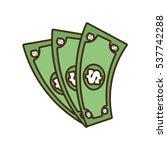 cartoon money bills dollar cash ... | Shutterstock .eps vector #537742288