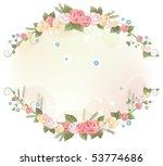 pink rose flower frame | Shutterstock .eps vector #53774686