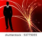 handsome man on abstract... | Shutterstock .eps vector #53775055