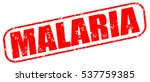 Malaria Red Stamp On White...