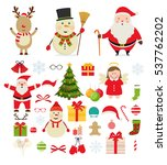 christmas characters and...   Shutterstock .eps vector #537762202