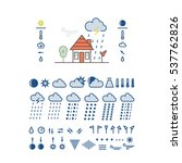 mega pack of weather icons with ... | Shutterstock .eps vector #537762826
