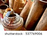 old clay pot excavations into... | Shutterstock . vector #537769006