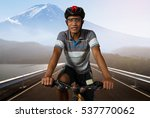 men cycling exercise on road in ... | Shutterstock . vector #537770062