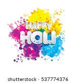 holi spring festival of colors... | Shutterstock . vector #537774376