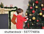 boy in new year pajama...   Shutterstock . vector #537774856