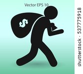 thief with bag of money vector...   Shutterstock .eps vector #537775918