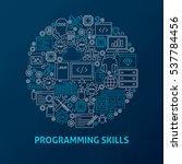 line programming skills icons...   Shutterstock .eps vector #537784456