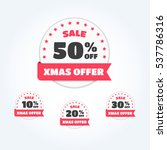christmas offer   off labels | Shutterstock .eps vector #537786316