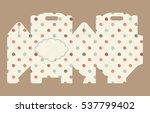 gift box pattern. template. box ... | Shutterstock .eps vector #537799402