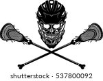 lacrosse stick skull | Shutterstock .eps vector #537800092