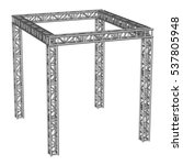 steel truss girder rooftop... | Shutterstock . vector #537805948