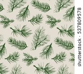 fir tree branch pattern | Shutterstock .eps vector #537809578