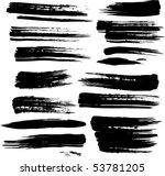 set of grunge brush strokes | Shutterstock .eps vector #53781205