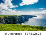 coast at the cliffs of moher in ... | Shutterstock . vector #537812626