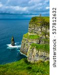 coast at the cliffs of moher in ... | Shutterstock . vector #537812632