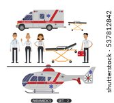 paramedics rescue team workers. ...   Shutterstock .eps vector #537812842