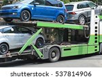 new cars on the trailer vehicle | Shutterstock . vector #537814906