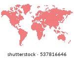 point detailed world map made...   Shutterstock .eps vector #537816646