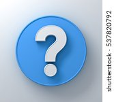 white question mark on round...   Shutterstock . vector #537820792