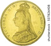 Small photo of Queen Victoria Gold Sovereign. Jubilee head. Obverse of the coin.