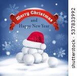 vector christmas background...   Shutterstock .eps vector #537833992