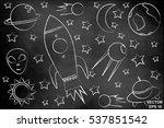 children set space. of blue... | Shutterstock .eps vector #537851542