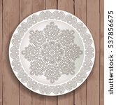 Plate With Vintage Lace And...