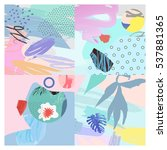 artistic background.modern... | Shutterstock .eps vector #537881365