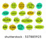 set of labels  lettering design ...   Shutterstock .eps vector #537885925