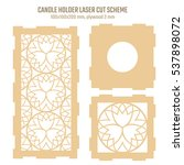 diy laser cutting vector scheme ... | Shutterstock .eps vector #537898072