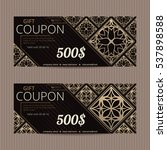 gift voucher in luxury style.... | Shutterstock .eps vector #537898588