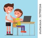 schoolboy  pupils  students ... | Shutterstock .eps vector #537900166