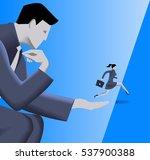 helping hand business concept.... | Shutterstock .eps vector #537900388
