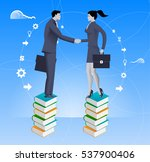 partnership based on knowledge... | Shutterstock .eps vector #537900406