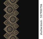 golden frame in oriental style. ... | Shutterstock .eps vector #537900706