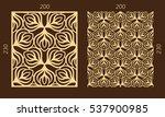 laser cutting set. woodcut... | Shutterstock .eps vector #537900985