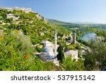 mosque in pocitelj village near ... | Shutterstock . vector #537915142