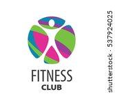 vector logo fitness | Shutterstock .eps vector #537924025
