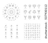 vector illustration set... | Shutterstock .eps vector #537930112