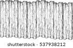 vector wood plank  isolated on...   Shutterstock .eps vector #537938212