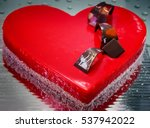 Cake In The Shape Of A Heart...