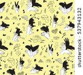 shadow fingers hands vector... | Shutterstock .eps vector #537943132