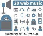20 web music signs. vector | Shutterstock .eps vector #53795668