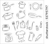 kitchenware | Shutterstock .eps vector #53795797