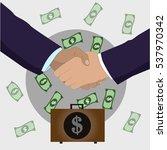shaking hands. vector | Shutterstock .eps vector #537970342