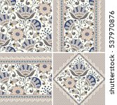 seamless floral patterns set....   Shutterstock .eps vector #537970876